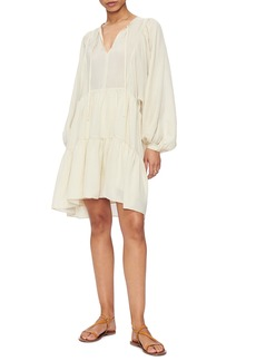 ANINE BING Madison Long Sleeve Silk Blend Dress