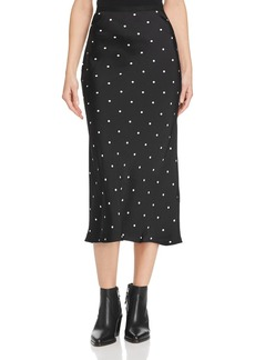 Anine Bing Bar Animal-Printed Silk Skirt