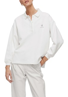 ANINE BING Tatum Oversize Long Sleeve Polo