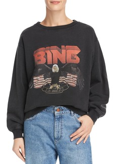 Anine Bing Vintage Eagle-Graphic Sweatshirt