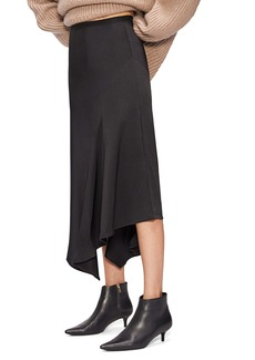 ANINE BING Bailey Asymmetrical Silk Skirt
