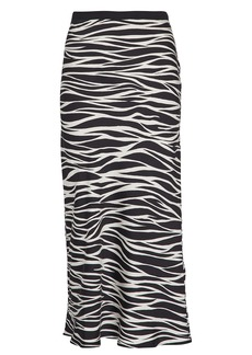 Anine Bing Bar Silk Zebra Midi Skirt