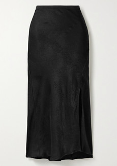 Anine Bing Dolly Satin-jacquard Midi Skirt