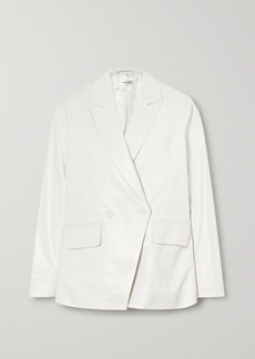 Anine Bing Grace Double-breasted Leather Blazer