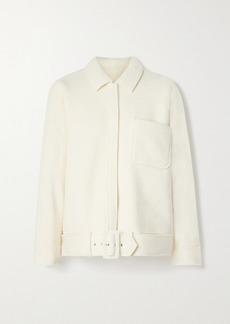 Anine Bing Jaden Belted Wool-blend Jacket
