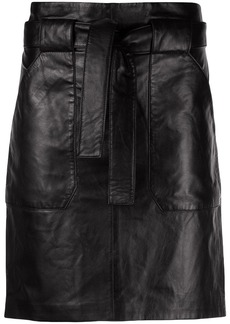Anine Bing Laurie tie-waist mini skirt