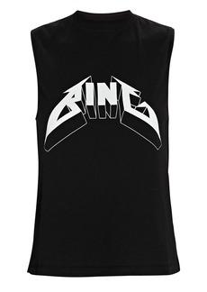 Anine Bing Lennon Logo Muscle Tank
