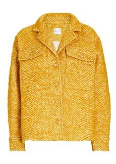 Anine Bing Leon Tweed Shirt Jacket