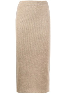 Anine Bing ribbed knit pencil skirt
