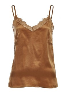 Anine Bing Silk Camisole with Lace