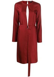 Ann Demeulemeester belted midi dress