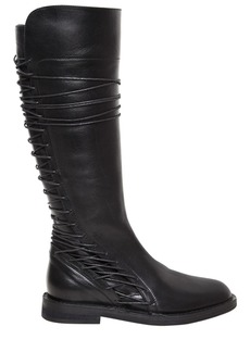 Ann Demeulemeester 20mm Lace Up Leather Boots
