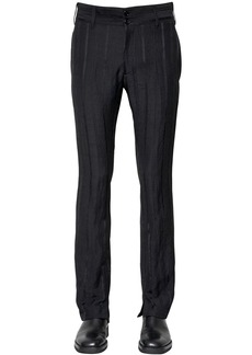Ann Demeulemeester 21cm Striped Viscose Blend Crepe Pants