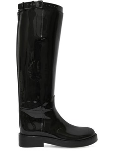 Ann Demeulemeester 30mm Patent Leather Riding Boots