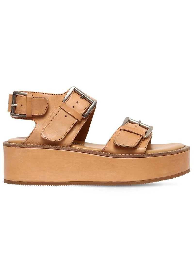 Ann Demeulemeester 50mm Leather Platform Sandals