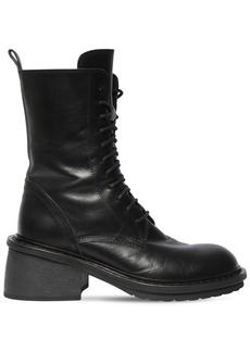 Ann Demeulemeester 60mm Leather Combat Boots