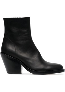 Ann Demeulemeester 80 Leather Ankle Boots