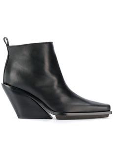 Ann Demeulemeester angled heel boots