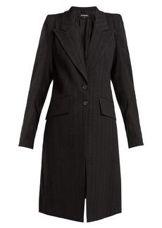 Ann Demeulemeester Algernon pinstriped linen-blend coat