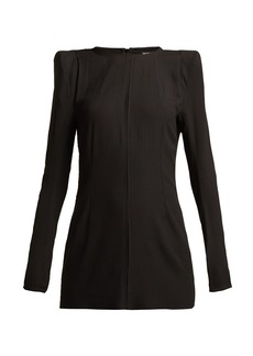 Ann Demeulemeester Ania raw-edged crepe tunic top
