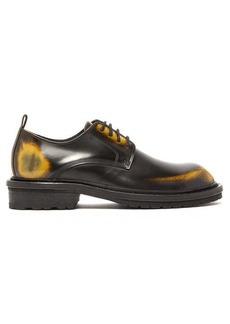 Ann Demeulemeester Antiqued leather derby shoes