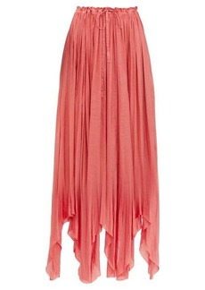 Ann Demeulemeester Ariana pleated satin maxi skirt