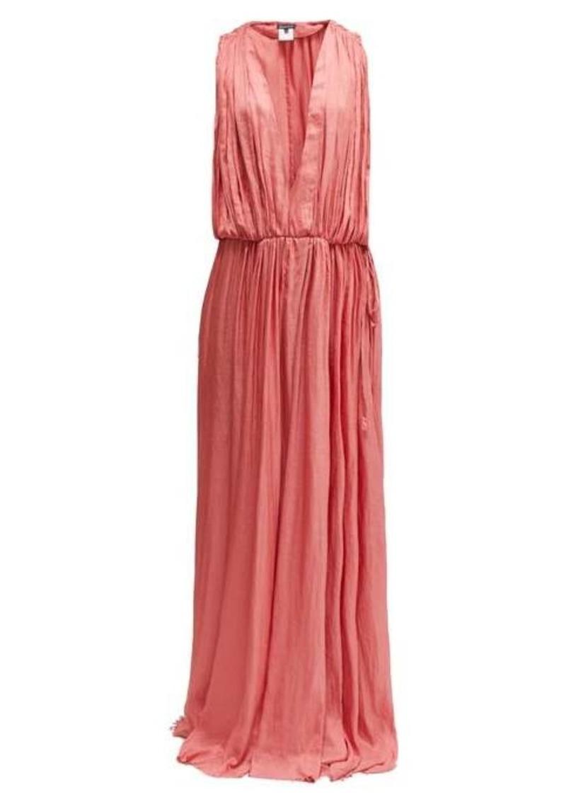 Ann Demeulemeester Ariana plunge-neck satin dress