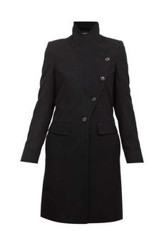 Ann Demeulemeester Asymmetric-buttoned wool-blend coat
