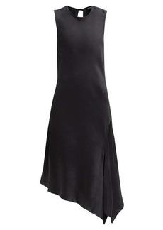 Ann Demeulemeester Asymmetric-hem open-back satin dress