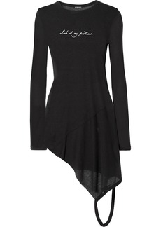 Ann Demeulemeester Asymmetric Printed Ribbed Jersey Top