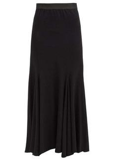 Ann Demeulemeester Asymmetrical wool-blend midi skirt