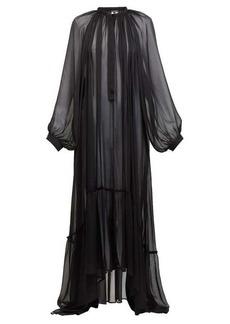 Ann Demeulemeester Balloon-sleeve chiffon maxi dress