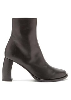 Ann Demeulemeester Banana-heel leather ankle boots
