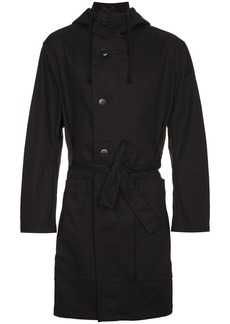 Ann Demeulemeester belted parka coat - Black