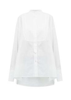 Ann Demeulemeester Bib-panel cotton-voile shirt