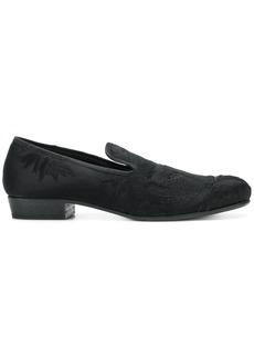 Ann Demeulemeester Blanche embroidered floral slippers - Black