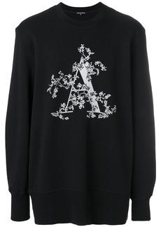 Ann Demeulemeester Blanche initial print sweatshirt - Black