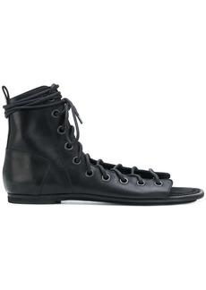 Ann Demeulemeester Blanche lace-up bootie sandals - Black