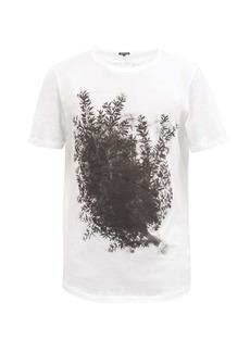 Ann Demeulemeester Branch and logo-print cotton-jersey T-shirt
