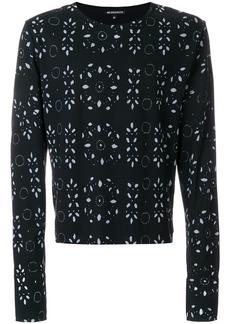 Ann Demeulemeester broderie anglaise print sweatshirt - Black