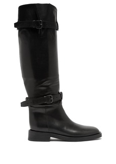 Ann Demeulemeester Buckled knee-high leather boots