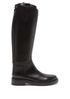 Ann Demeulemeester Buckled leather wellington boots