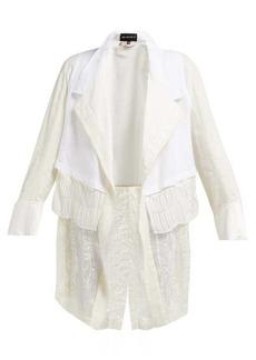 Ann Demeulemeester Camilo lace-hem hemp jacket