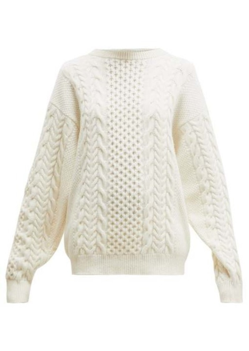 Ann Demeulemeester Canber cable-knitted wool sweater