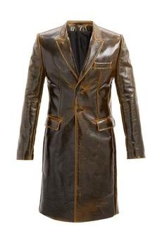Ann Demeulemeester Coated wool-blend jacket
