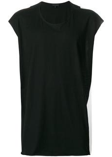 Ann Demeulemeester colour block back tank top - Black