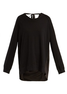 Ann Demeulemeester Contrast-panel cotton and silk top