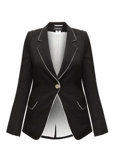 Ann Demeulemeester Contrast-trim single-breasted wool-twill blazer