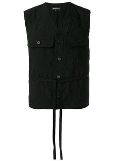 Ann Demeulemeester crease effect vest - Black