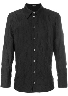 Ann Demeulemeester creased long sleeve shirt - Black
